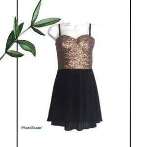 MINKPINK Women's Gold Sequin Mini Cocktail Dress